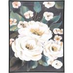 Toile peinte Fleurs encadrée 58x78 cm