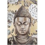 Toile peinte relief Bouddha 60x90 cm