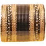 Touchstone 2 douzaines de Bracelets de Collection en Alliage de métal texturé Bijoux de créateur Bracelets spéciaux pour Femme 2.75 Lot de 2 Grand Noir