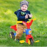 Tricycle Enfant Multicolore Klaxon Benne Aosom 18m+