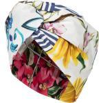 Turban en coton mélangé à fleurs