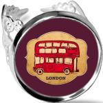 Uk - London Parapluie Stamp Bus Rouge Bague De Fiançailles Ajustable De Mariage D'amour