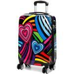 Valise cabine rigide Madisson Funky Hearts 55 cm Multicolore noir