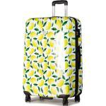 Valise rigide grande taille SAXOLINE - Trolley L Lemon 1438H0.78.10 Blanc Multicolore