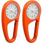 Montres orange à quartz look sportif à chiffres arabes
