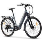 Velo de ville electrique moma bikes ebike 28 shimano 7v batterie 624wh gris noir