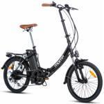Velo pliant electrique moma bikes e 20 2 shimano 7v noir unique 155 205 cm