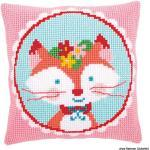 Vervaco PN-0155351 Kit de Coussin au Point de Croix, Blanc, 40 x 40 cm Or 16 x 16 in