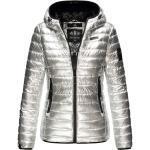 Vestes d'hiver Marikoo argentées doublées pour femme