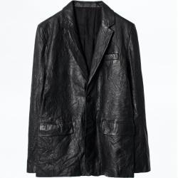 Vêtements Zadig & Voltaire noirs en cuir d'agneau Taille XL pour homme