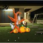 vidaXL Arbre hanté gonflable de Halloween avec citrouilles 6 LED 2,6 m