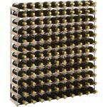 vidaXL Casier à bouteilles 120 bouteilles Pinède solide
