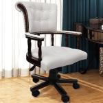 vidaXL Chaise de bureau pivotante Blanc