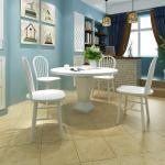 vidaXL Chaises de salle à manger 4 pcs Blanc Bois d'hévéa solide