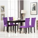 vidaXL Chaises de salle à manger 4 pcs Violet Velours