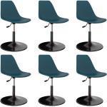 vidaXL Chaises de salle à manger pivotantes 6 pcs Turquoise PP