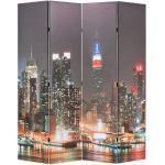 vidaXL Cloison de séparation pliable 160x170 cm New York la nuit