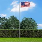 Meubles VidaXL dorés à motif USA