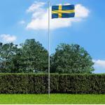 vidaXL Drapeau Suède 90x150 cm