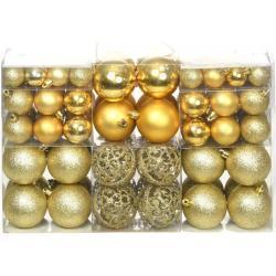 vidaXL Ensemble de boules de Noël 100 pcs 6 cm Doré