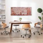 vidaXL Ensemble de tableau sur toile Arbre Jaune 150x60 cm