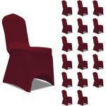vidaXL Housses élastiques de chaise Bordeaux 18 pcs