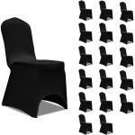 vidaXL Housses élastiques de chaise Noir 18 pcs