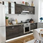 vidaXL Jeu d'armoire de cuisine 8 pcs Wengé