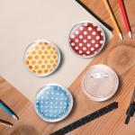 vidaXL Kit de badges à bouton avec épingles 100 sets Acrylique 58 mm