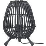vidaXL Lampe sur pied de table Saule Noir 60 W 20x27 cm E 27