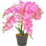 vidaXL Plante artificielle avec pot Orchidée Rose 60 cm