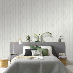 vidaXL Rouleaux de papier peint Non tissé 2 pcs Blanc 0,53x10 m Vagues