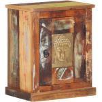vidaXL Table de chevet avec revêtement Bouddha 40x30x50cm Bois recyclé