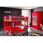Vipack Chambre Enfant London : Lit Superposé Bus Armoire Cabine Téléphonique - SCCOBB01