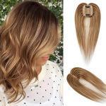 """Volumateur Femme Extension a Clip Cheveux Naturel Complément Capillaire (16""""(40cm), 4+27 Châtain Méché Blond Foncé)"""