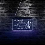 Wangzhuoyue Une Maison Sans Chien N'Est Qu'Une Maison Inspirante Bull Terrier Led Enseigne Au Néon Art Mural Chiot Race Conseil D'Éclairage Led Néon-50X28Cm