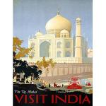 Wee Blue Coo Travel Canadian Pacific Taj Mahal India Canada Vintage Advertising Art Print Poster Wall Decor 12X16 inch