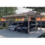 Weka Carport Double en Bois de Pin Traité et PVC - 25 m² - 616.5050.30.10