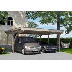Weka Carport Double en Bois de Pin Traité et PVC avec Arc - 25 m² - 616.5050.40.10