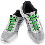 WELKOO® Lacets Elastique en Silicone Sans Lacage Etanche pour Chaussure Enfant -12pcs Couleur vert