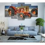 Xiangruifu,62618-Sans Cadre Imprimé 5 Pièce Toile Sur Ferme Tracteur Toile Photo Peinture Décor Impression Affiche Mur Art