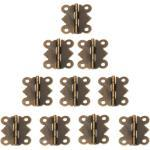 Xm 20 Pièces 25x20mm Mini Charnière De Porte Papillon Antique Bronze Armoire Boîte À Bijoux Charnières Décoratives Matériel De Meubles Avec Vis