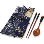 Xm Jun21 Service De Table Portable En Bois Vintage + Sac Bleu Livraison Directe Du Prix Usine Professionnelle