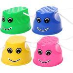 Yeahibaby 4pcs sports échasses jouets formation sensorielle échasses équipement enfants enfants jeux de plein air précoce éducation équilibre capacité développement jouets (bleu, rose, jaune, vert)