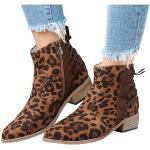 Chaussures à pompons en daim à talons compensés à bouts pointus à fermetures éclair look fashion pour femme