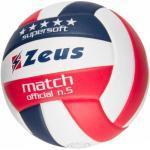 Zeus Match Ballon de volley-ball Navy rouge