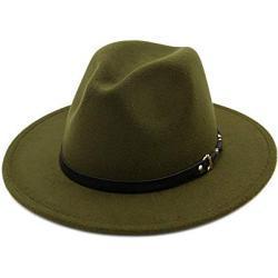Chapeaux Fedora vert foncé look fashion pour femme