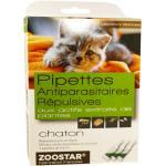 Zoostar Pipettes Antiparasitaires Répulsives Chaton 3 pipettes